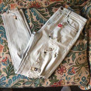 """Driftwood NWOT """"Jackie"""" Embellished Jeans."""